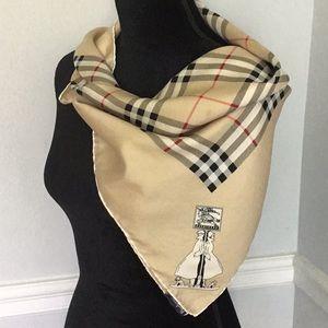 Vintage Burberry's Nova Check Silk Scarf